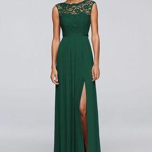 David's Bridal Size 8 juniper bridesmaid dress